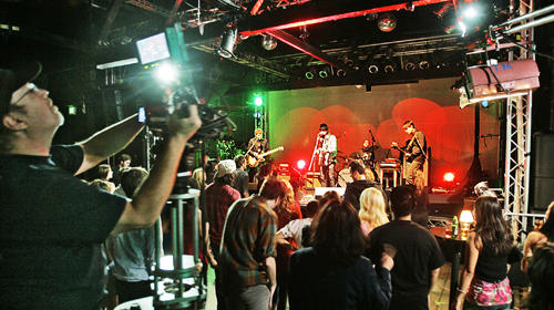 "POWER POP: Phantom Planet performs during a taping of ""Rockville, CA,"" an upcoming Web series from Josh Scwartz. The spirit of liver performances is integral to the series."