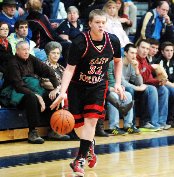 East Jordan freshman Jordan Weber had a game-high 15 points Wednesday as the Red Devils defeated Kalkaska, 62-41, for their second Lake Michigan Conference win of the season.