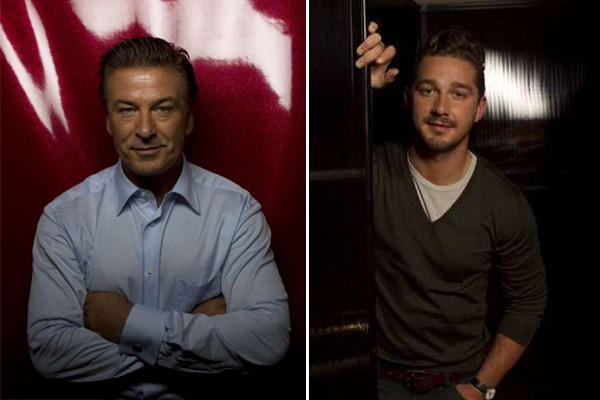 Alec Baldwin and Shia LaBeouf.