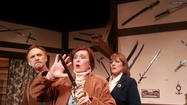 "<strong>""Deathtrap""</strong> at <a href=""http://www.stagedoortheatre.com/"" target=""_blank"">Stage Door Theatre</a> is a Rube Goldberg machine of a thriller, a complex device that accomplishes a simple task through a convoluted and whimsical series of chain reactions."