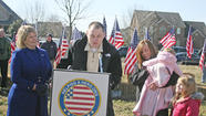 More than 100 community members gathered on a chilly and windy Thursday morning to honor a man — a Marine — most had never met, and whose story most had never heard.