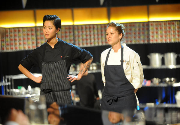 "It's Kristen Kish, left, and Brooke Williamson in the ""Top Chef"" final."