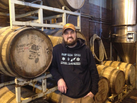 Nick Barron, the new head brewer at Goose Island's brew pubs