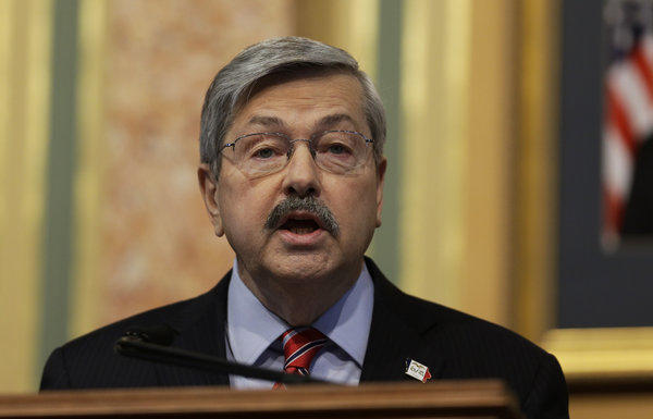 Iowa Gov. Terry Branstad delivers the annual Condition of the State address before a joint session of the Iowa Legislature in Des Moines.