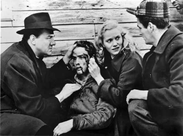 "Actress Eva Marie Saint as Edie Doyle and Marlon Brando as the boxer Terry Malloy in ""On the Waterfront."" The movie is newly released on Blu-ray."