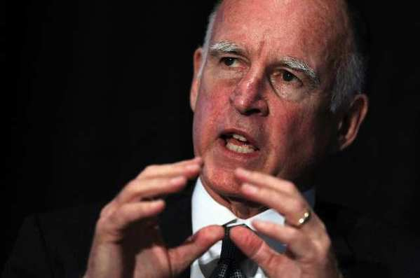 Gov. Jerry Brown delivers a keynote address during the 2011 Pacific Coast Builders Conference in San Francisco.