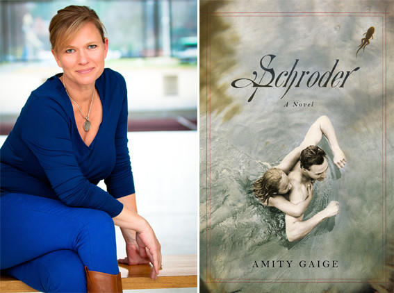 Author Amity Gaige and the cover of her book, 'Schroder'.