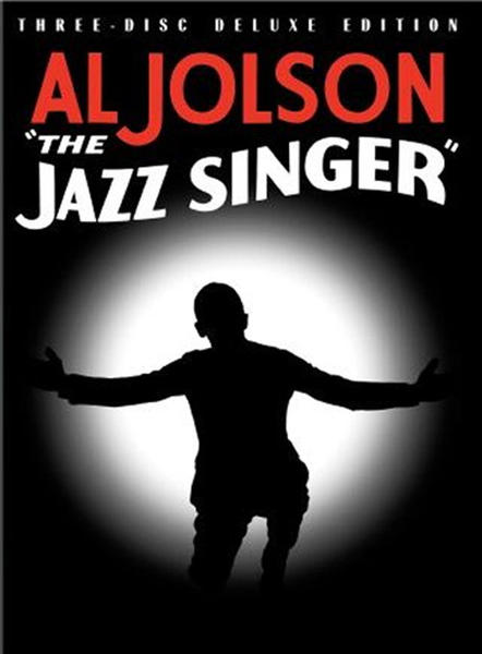 "DVD cover for ""The Jazz Singer"" starring Al Jolson."