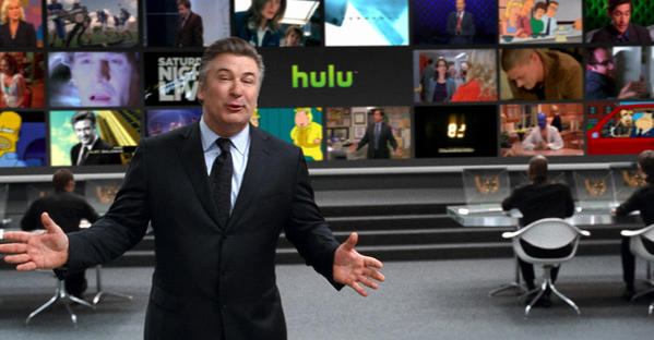 Alec Baldwin appears in an ad for the online TV service Hulu, whose viewers may now be counted by a new measuring system proposed by TV ratings company Nielsen.