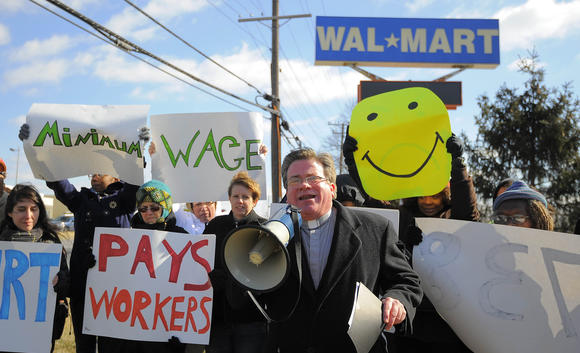 Raise Maryland is going to have a rally outside a Catonsville Walmart. There will be Walmart employees speaking, and they're going t