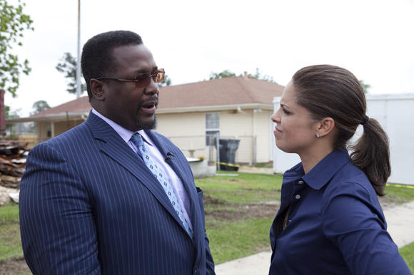 Soledad O'Briend with Wendell Pierce