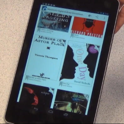 """OverDrive"" is a free app used by Washington County Free library patrons to download the latest e-books and audio books."