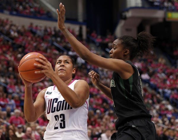 Kaleena Mosqueda Lewis was one of the few bright spots for UConn against Baylor on Monday.