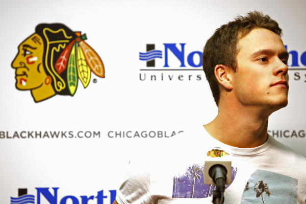 Jonathan Toews said it was tough to admit to himself he had a concussion last season.