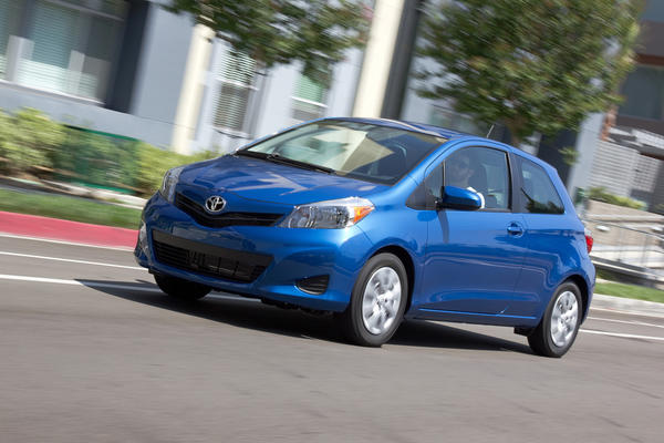 At No. 9  is the Toyota Yaris. Base price: $14,370; fuel economy: 33 mpg; cost per 1 mpg: $435.45.