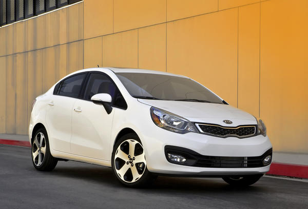 At No. 8  is the Kia Rio. Base price: $13,600; fuel economy: 32 mpg; cost per 1 mpg: $425