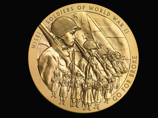 "The Congressional Gold Medal awarded to Japanese American soldiers and inscribed with their motto, ""Go For Broke,"" will form the core of an upcoming exhibit at the Bishop Museum in Honolulu."