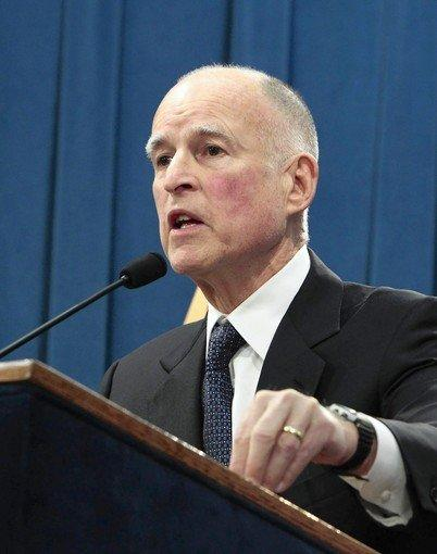 Gov. Jerry Brown and a number of GOP governors are struggling with healthcare systems overtaxed by large numbers of uninsured residents.