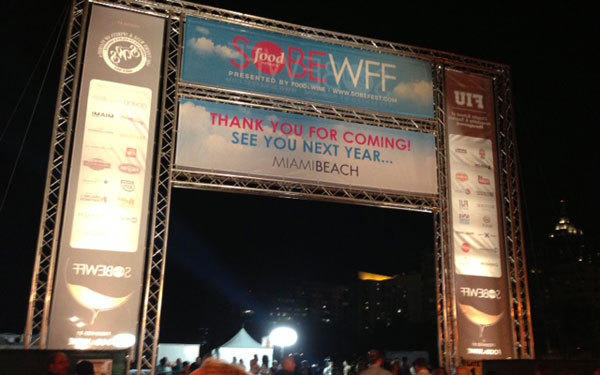 The main entrance at the South Beach Food & Wine Festival.