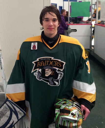 Atholton ice hockey goalie Tommy Pappas