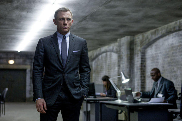 "Daniel Craig in a scene from the film ""Skyfall."""