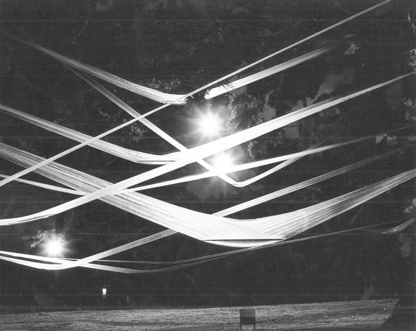 "Sadamasa Motonaga's ""Work (Water)"" used sunlight filtering through its tubing to create different effects. The 1956 piece is being replicated in New York."