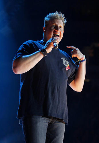Gary LeVox of Rascal Flatts performs at the Mohegan Sun Arena at Casey Plaza in Wilkes-Barre on Feb. 21.