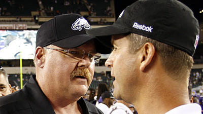 Andy Reid 'very proud' of John Harbaugh