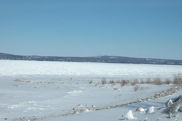 Sherrie Elliott, supervisor of the water and wastewater division of Petoskey's Public Works department, keeps tabs on the Little Traverse Bay all winter long.