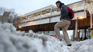 Storm loses punch, but still socks morning commute