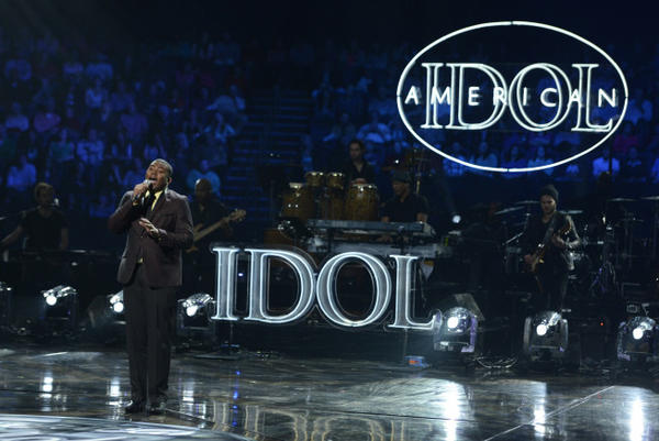 "Curtis Finch Jr. performs in the Sudden Death round of ""American Idol."""