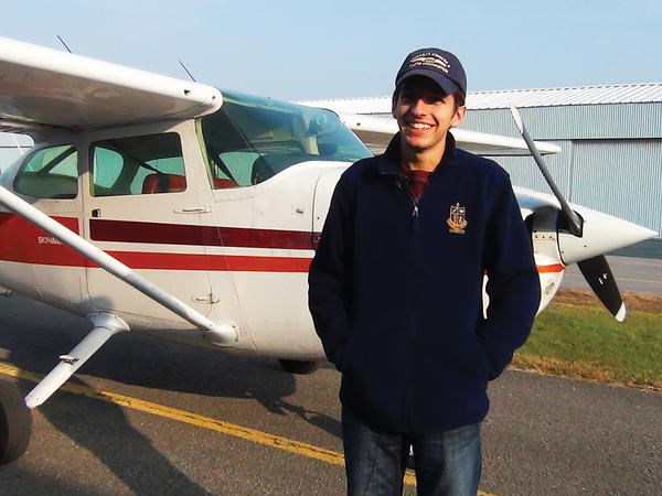 Michael DiMercurio of Hagerstown took his first flying lesson when he was 9. He said he plans on a career in computer engineering, but might consider being a professional pilot, too.