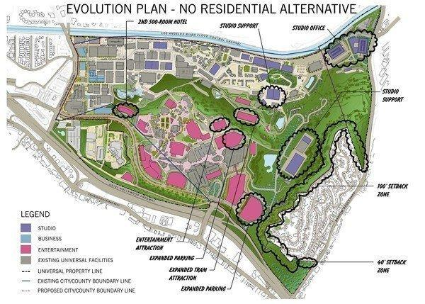The new $1.6 billion NBC Universal proposal, shown, was unveiled ahead of the release of the final environmental impact report on the company's proposal to improve the sprawling studio and tourist attraction in the San Fernando Valley.
