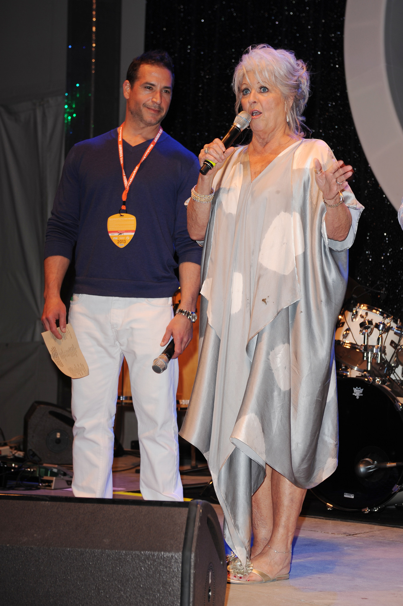 Celeb-spotting at SoBe Wine and Food Festival - SBWFF 2013 - The Q hosted by Paula Deen and Sons