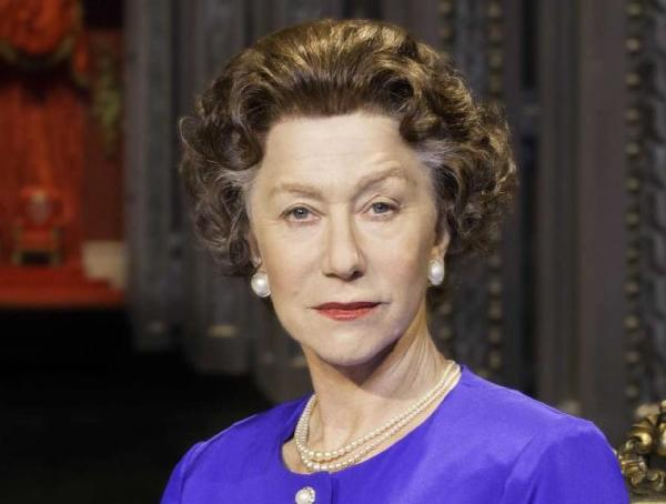 "Helen Mirren as Queen Elizabeth II in ""The Audience."""