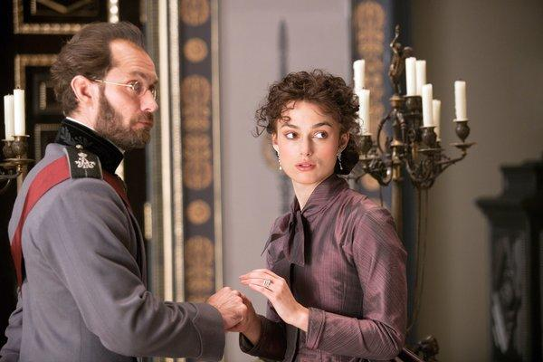"Jude Law and Keira Knightley in the adaptation of Leo Tolstoy's ""Anna Karenina."""