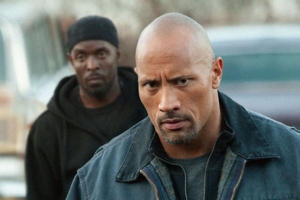 "Dwayne Johnson in ""Snitch."""