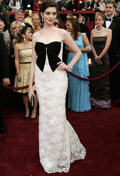 Academy Awards fashions through the years: Anne Hathaway, 2007