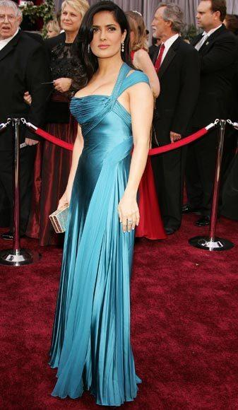 Academy Awards fashions through the years: Salma Hayek, 2006