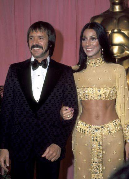 Academy Awards fashions through the years: Sonny and Cher, 1973