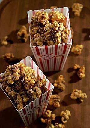 The movie experience simply isn't complete without popcorn. But why stop at plain popcorn when you can coat it in rich caramel and nuts? Better fix an extra batch -- this stuff'll go quickly.