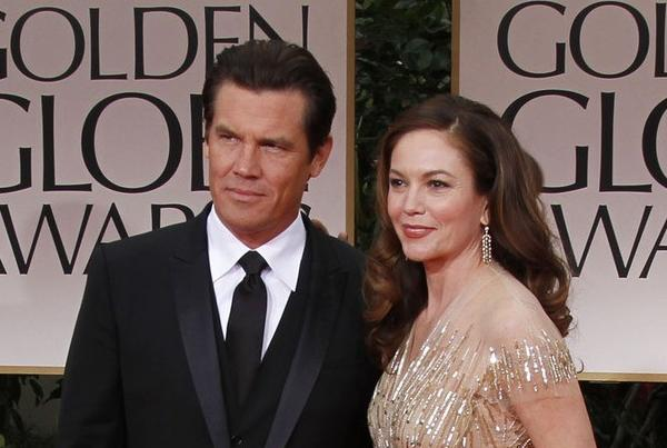 Josh Brolin and Diane Lane at the the Golden Globe Awards at the Beverly Hilton in 2012.