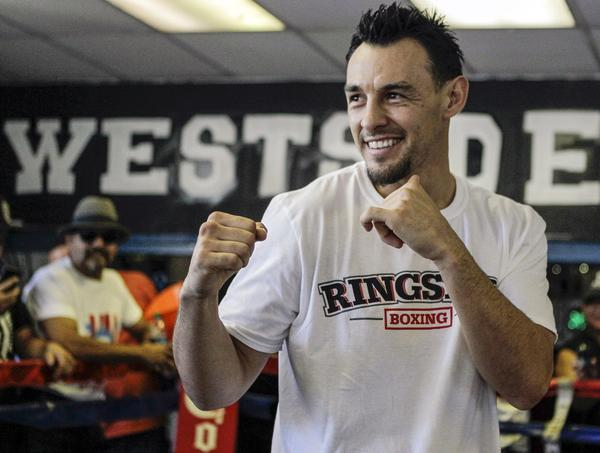 Robert Guerrero earned a title shot against Floyd Mayweather Jr. by defeating the naturally bigger former world welterweight champion Andre Berto by decision in Ontario, knocking Berto down in each of the first two rounds.