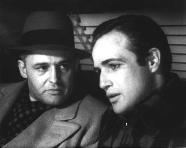 "Contenders: Rod Steiger, left, and Marlon Brando both won Oscars for their roles in the 1954 classic ""On the Waterfront"" at 5 p.m. on TCM"