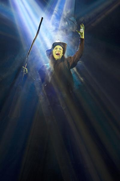 "Christine Dwyer soars as Elphaba in ""Wicked."""