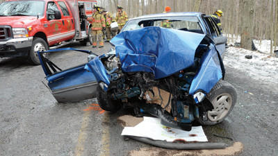 Crews were at the scene Friday morning at a fatal crash along Pompey Hill Road.