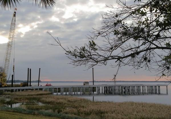 Construction is under way on Tavares' latest economic project, Pavilion on the Lake, which will be a wedding venue on a pier over Lake Dora.