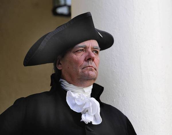 Recently in Eustis, Ron Carnegie casts the bigger-than-life visage of our nation's founding father, George Washington.