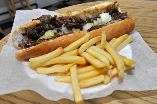 Dave Steffie, owner of Michaels Steaks, brings a small part of Philadelphia to the Lehigh Valley with his authentic cheese steaks Friday, February 22, 2013 at his restaurant at 308 South New Street in Bethlehem.