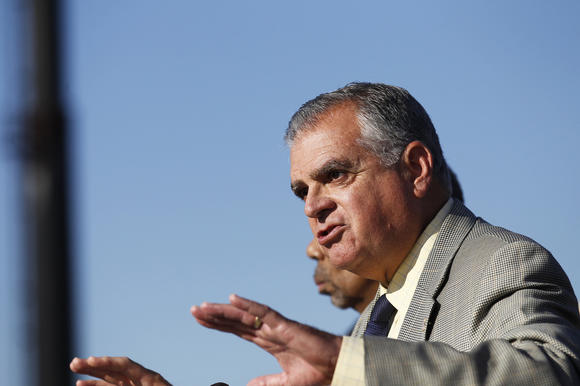 U.S. Transportation Secretary Ray LaHood speaks in Englewood